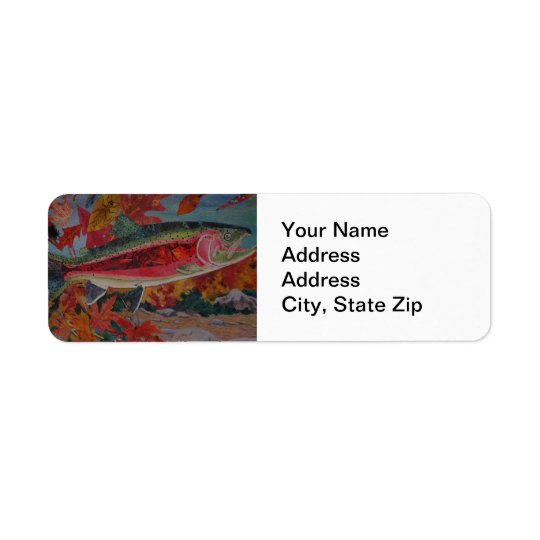 Animal Return Address Label rainbow trout.