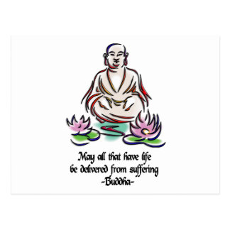 Animal Rights Buddha Quote Postcard