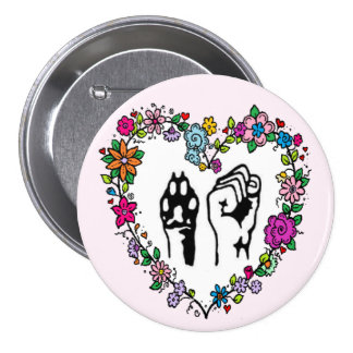 Animal rights button. 3 inch round button