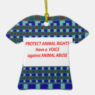 Animal Rights-Healty Living Habitat in Wild being Christmas Tree Ornament