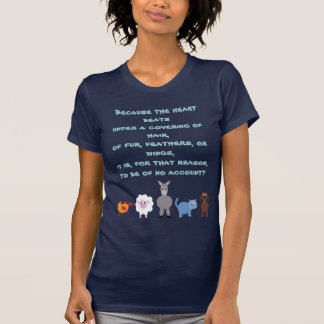 Animal Rights Quote Cute Cartoon Animals T-Shirt
