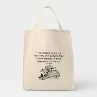 Animal Rights Quote Grocery Bag