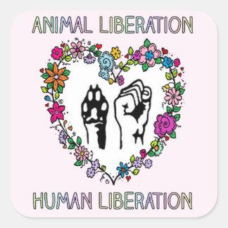Animal rights sticker. square sticker