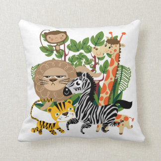 Animal Safari Throw Pillow
