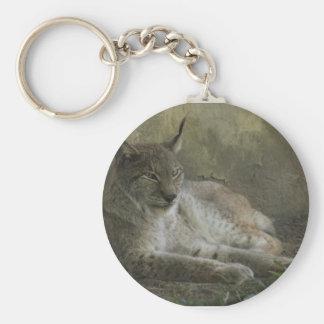 Animal sauvage de Lynx d'Amérique du Nord Porte-clé Rond