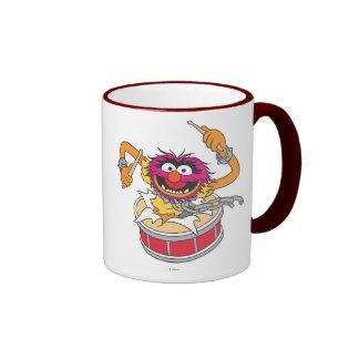 Animal se brisant par des tambours mug ringer