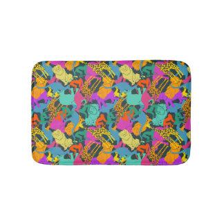 Animal Silhouettes Pattern Bath Mat