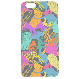 Animal Silhouettes Pattern Clear iPhone 6 Plus Case