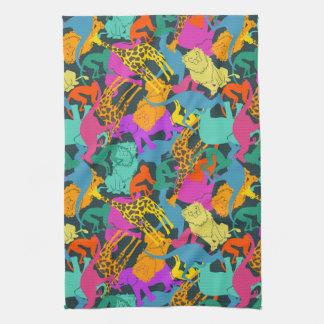 Animal Silhouettes Pattern Kitchen Towel
