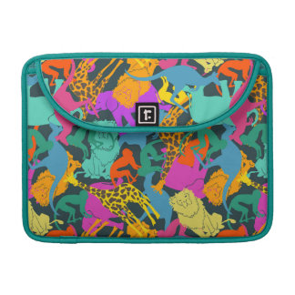Animal Silhouettes Pattern MacBook Pro Sleeves