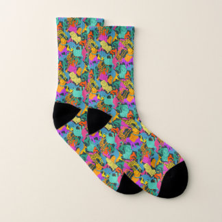 Animal Silhouettes Pattern Socks
