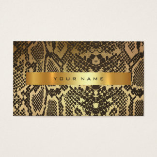 Animal Skin Black Gold Python Vip Fashion Stylist Business Card