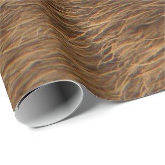 Animal Skin Brown Abstract Bear Fur VIP Wrapping Paper