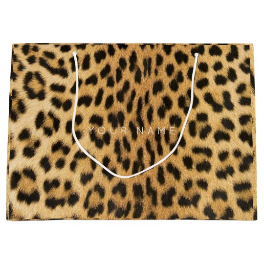 Animal Skin Brown Abstract Fur Glam Lampard VIP Large Gift Bag
