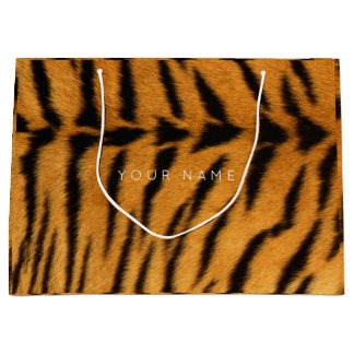 Animal Skin Brown Safari Tigre Minimal VIP Large Gift Bag
