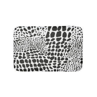Animal Skin in Black and White Bath Mat