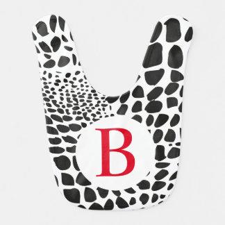 Animal Skin in Black and White Bib