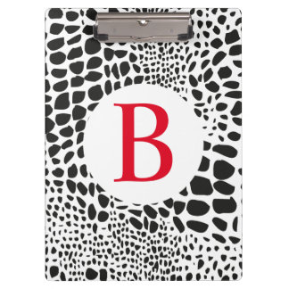 Animal Skin in Black and White Clipboard