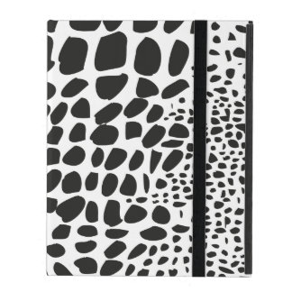 Animal Skin in Black and White Cover For iPad