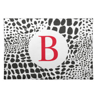 Animal Skin in Black and White Placemat
