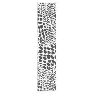 Animal Skin in Black and White Short Table Runner