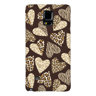 Animal skin with hearts galaxy note 4 case