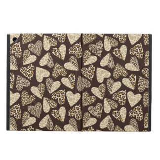 Animal skin with hearts cover for iPad air