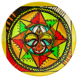 Animal Spirit Mandala Porcelain Plate
