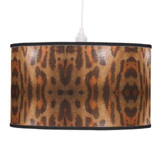 Animal Spot Drum chandelier with black trim Pendant Lamp