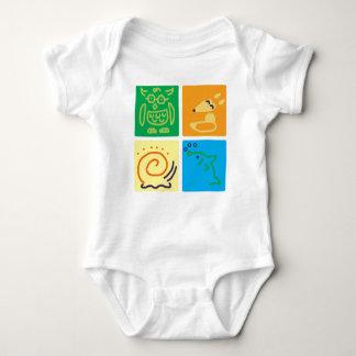 Animal Squares Baby Bodysuit