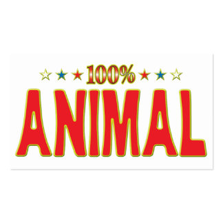 Animal Star Tag Business Card