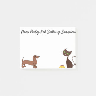 Animal sticky note pad for pet sitting business