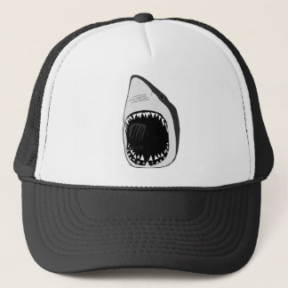 animal t-shirt white shark weisser hai scuba trucker hat