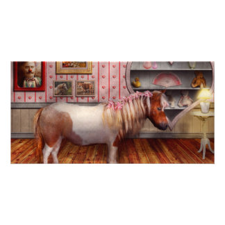 Animal - The Pony Custom Photo Card