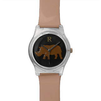 animal-themed customizable rhino watch