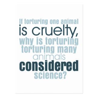 Animal Torture Postcard