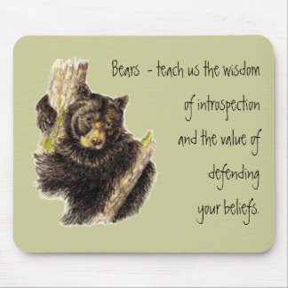 Animal Totem, Bears Nature, Spirit Guide Mouse Pad