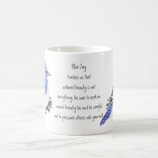 Animal Totem Blue Jay Inspirational Nature Guide Coffee Mug