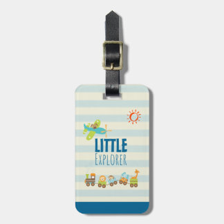 Animal Toy Train and Airplane Little Explorer Luggage Tag