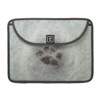 Animal tracks in the snow sleeve for MacBooks