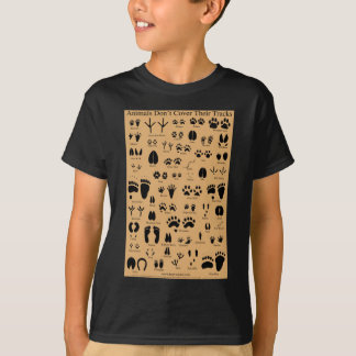Animal Tracks Pawprints Poster T-Shirt