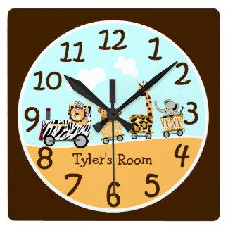 Animal Train Baby Wall Clock