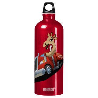 Animal transportation with giraffe water bottle SIGG traveler 1.0L water bottle