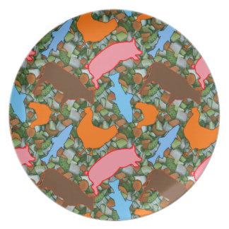 Animal & Vegetable Dinner Plates