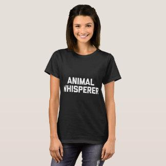 animal whisperer cat t-shirt