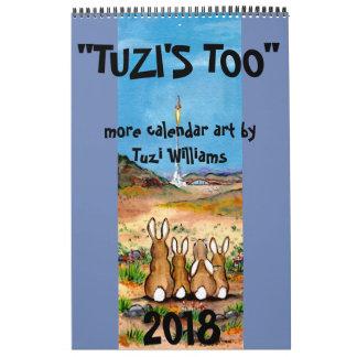 Animal Wildlife Art 2018 Calendar Humorous Rabbit