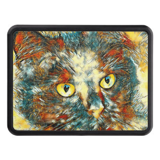 AnimalArt_Cat_20170802_by_JAMColors Trailer Hitch Cover
