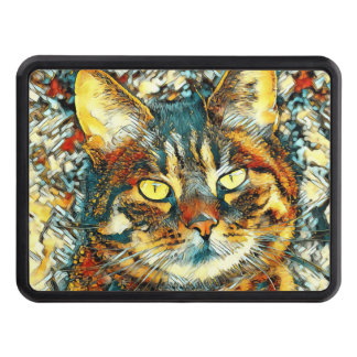 AnimalArt_Cat_20170903_by_JAMColors Trailer Hitch Cover