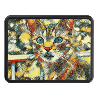 AnimalArt_Cat_20170919_by_JAMColors Trailer Hitch Cover