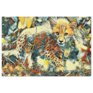 AnimalArt_Cheetah_20171003_by_JAMColors Tissue Paper